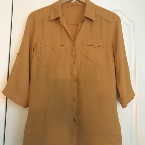 New York & Company Tops - Mustard button down blouse